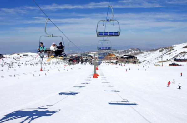 View from the Sierra Nevada chairlift